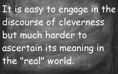 discourse of cleverness